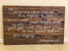 DIY wooden pallet sign Zephaniah