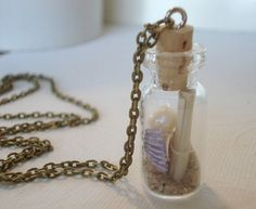 Personalized Message In a Bottle Seashell by RhondasTreasures, $22.00
