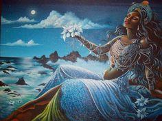 Orisha Yemaya: The Goddess of Fertility African Mythology, African Goddess, Black Goddess, Goddess Art, African American Art, African Art, African History, Yemaya Orisha, Durga