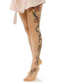Love This Beautiful Flower Tattoos for Girls on Legs