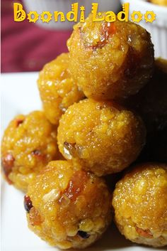 Even though i have posted my all time favourite motichoor ladoo here before, i still wanted to share boondi ladoo recipe. The procedure. Indian Dessert Recipes, Indian Sweets, Sweets Recipes, Desert Recipes, Gourmet Recipes, Cooking Recipes, Snack Recipes, Laddoo Recipe, Easy Ladoo Recipe