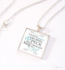 I love you a bushel & a peck necklace