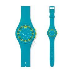 SWATCH CHRONO PLACTIC, cette montre est issue de la nouvelle collection de swatch, et toujours avec ce magnifique mélange de fun et style