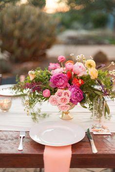 wedding centerpiece idea; photo: Julie Cate