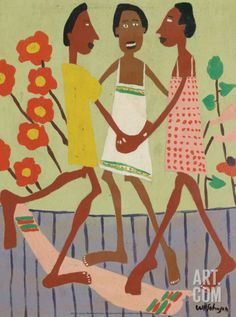 Ring Around the Rosey Art Print by William H. Johnson at Art.com