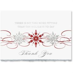 Snowflake Thank You Deluxe Holiday Greeting Card | from PaperDirect #bestseller