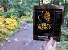 Staying fueled on the trail is super important as it helps keep us both mentally & physically on track. We eat granola bars trail mix fruit snacks and sometimes even cut up carrots or cucumbers. Recently we were introduced to @perkyjerky and it has quickly climbed to the top of the list. Packed with protein and surprisingly little fat this stuff also tastes amazing! The kids like beef better than turkey (although Sam and I Iike both!) and love the variety of flavors. Anything that keeps us…
