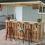 I made a backyard bar out of pallets. - Imgur