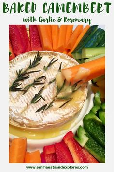 Gooey Melted Baked Camembert with Garlic & Rosemary - perfect sharing appetiser or main meal. SCD, Paleo, Vegetarian, Glutenfree & Grainfree. Cheese recipe.