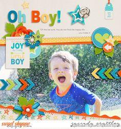 Photocentric V2 Templates by Crystal Livesay Bundle of Boy by Melissa Bennett Digital scrapbook layout