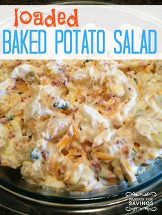 Whether you are planning a party or just want a fun side dish for dinner tonight, give this Loaded Baked Potato Salad a try. Perfect for the of July! Side Dish Recipes, Side Dishes, Dinner Recipes, Dinner Ideas, Loaded Baked Potato Salad, Dinner Dishes, I Love Food, Pasta Salad, Chicken Salad