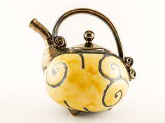 Pottery teapot ceramic teapot ceramics and pottery by Avanturine