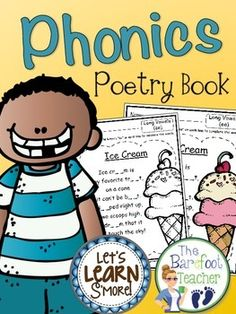Phonics Poetry Book (Color & BW) - Includes 106 printables