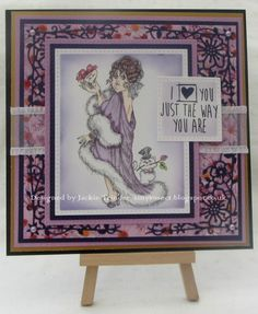 Tinyrose's Craft Room: Crafty Catz Challenge - Anything Goes made with an image from Rick St Dennis and the Cottage Garden die from Papercraft Essentials magazine. .