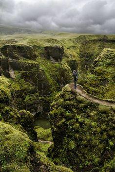 Fjarrgljfur Canyon, Iceland photo via definitely