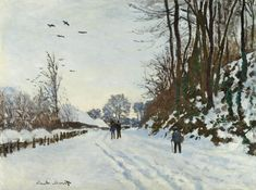 The Road to the Farm of Saint-Simeon in Winter | (1867) | Claude Monet, French, 1840-1926