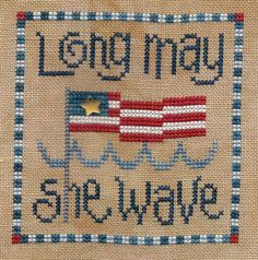 July 4th embroidery