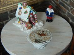 Handmade Miniature Holiday Pedestal Cake Stand by JansPetitPantry