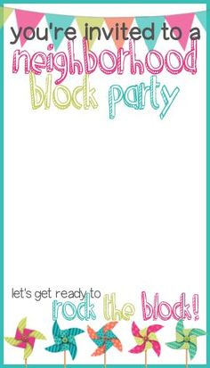 Block Party Invitation  Party Invitations