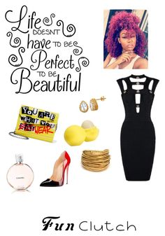 """""""#YouAreWhatYouWear & #IWearItWellllll 💃🏽💄😘😍💋😎👄👠👛"""" by monteiz on Polyvore featuring Jimmy Choo, Chanel, Eos and Black & Sigi"""