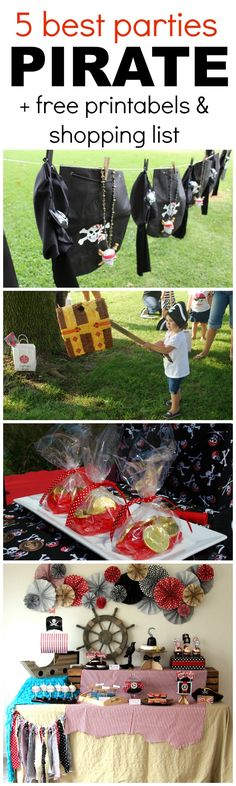 The 5 Best Pirate Parties + Free Printables and a Shopping List