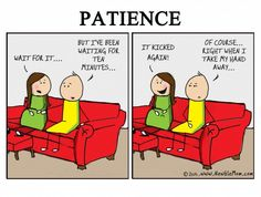 Kicking Patience…. » Newbie Mom #pregnant #comics #funny #pregnancy