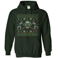 (Tshirt Nice Produce) Firefighter Merry Christmas Free Ship Hoodies Tee Shirts