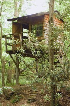 Touchstone Center for Crafts, brown shingle treehouse, Farmington, PA