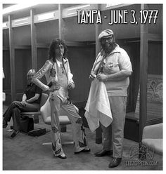 Tampa 1977 (backstage)