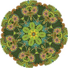 Terrifically Tropical! The Aloha Mandala ColorMe Decal boasts swirls, flowers, leaves and other geometric designs in a fun and intricate pattern. Intricacy level: high