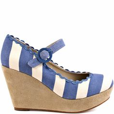 Frankie - Blue Stripes by Shelly's of London striped #wedges