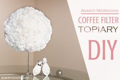 DIY Coffee Filter Topiary