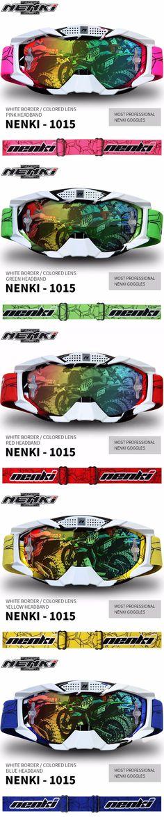 (1pc&5colors) New Arrival NENKI Brand Professional Motocross Goggles Motorcycle Glasses Moto Casco Gafas Casque Shield Visor