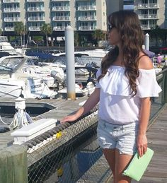 Spring 2015 Boho / Bohemian / Gypsy - White off the shoulder top - If you like my outfit, please follow me and subscribe to my fashion channel on Youtube! Let me help u find all the things that u love from Pinterest! https://www.youtube.com/watch?v=XSiQP5OFjXE&list=UUCP8TXebOqQ_n_ouQfAfuXw