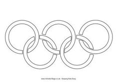 Olympic Rings Colouring Page
