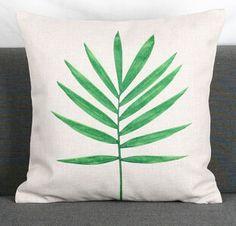 Folhas tropicais verde país decor throw pillow caso capa de almofada sofá de algodão decorativas cojines em Capas de almofadas de Home & Garden no AliExpress.com | Alibaba Group
