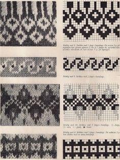 Всем, кто вяжет, дарю старые идеи для новых работ Punto Fair Isle, Motif Fair Isle, Fair Isle Pattern, Knitting Charts, Knitting Stitches, Knitting Designs, Tapestry Crochet Patterns, Stitch Patterns, Knitting Patterns