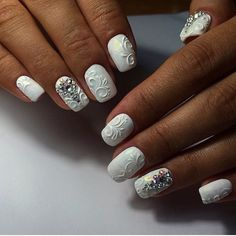 3d nails, Exclusive nails, Extravagant nails, Luxurious nails, Luxury nails…                                                                                                                                                     More