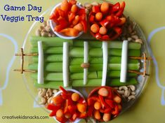 Looking for a cute, healthy Superbowl Snack you can make with the kids?  I've got a Superbowl inspired veggie tray you can make with the kids before the big game.  This is not too fancy, but I'm su...
