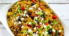 Kalyn's Kitchen®: Low-Carb Mediterranean Spaghetti Squash Sauteed with Vegetables and Feta