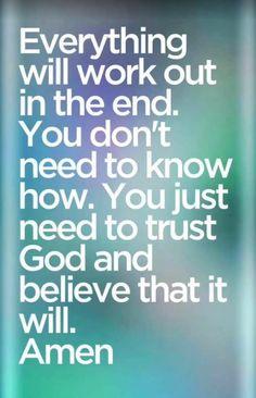 Trust In God. Amen...Mildred Williams Thank You God !!!