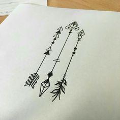 arrow tattoo tattoos simple arrows three spine outline grey tatuagem own ink pfeil tatuajes flecha henna word tatuaje drawing drawings