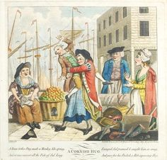 """""""A Cornish Hug"""" by John Nixon after Thomas Rowlandson, 1784. Sold at auction by Dreweatts & Bloomsbury (UK)"""