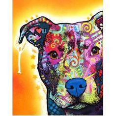 Heart U Pit Bull Print