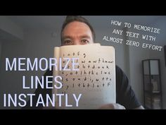 If you're an actor, or just someone who needs to memorize some lines of text real quick, check this flippin' awesome technique out. Acting Lessons, Acting Tips, Music Lessons, How To Memorize Lines, Teaching Theatre, Drama Teaching, Acting Quotes, Drama Education, Little App