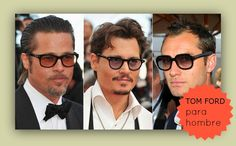 Tres guapos actores con gafas TOM FORD ;)