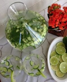 Cucumber water with Lime and Mint - perfect mid day drink cum snack for that extra cleanse