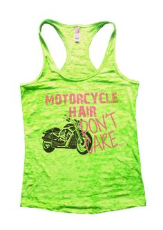 Motorcycle Hair Dont Care Burnout Tank Top By Funny Threadz - 742