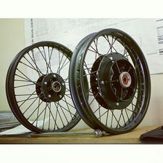 Custom spoke rings by motosynthesis #CB650 #CX500 #motosynthesis #caferacer #nomorecomstars