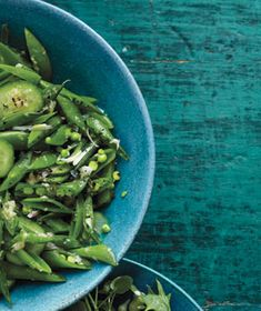 Snap Peas With Cucumber and Ginger recipe from realsimple.com. #MyPlate #veggies #vegetables